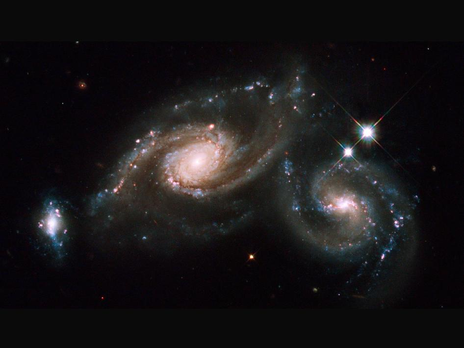 galaxies appearing to collide