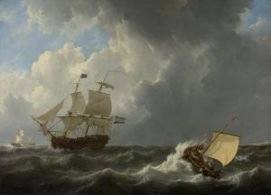 20150312XD-Rijks_ShipsOnaStormySea_JohannesCSchotel_SK-A-1131